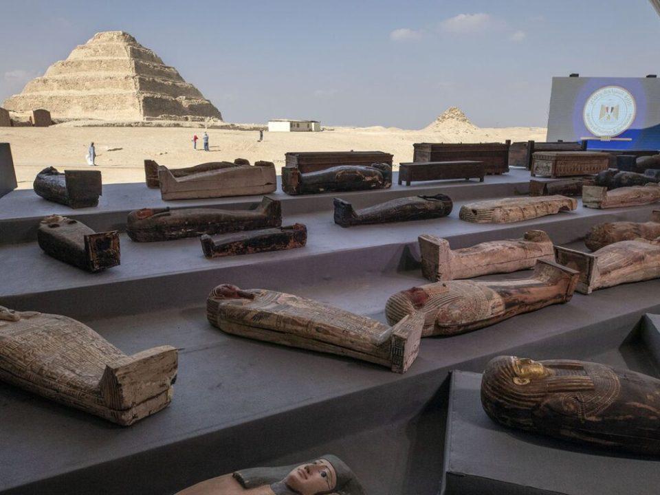sarcófagos en Egipto