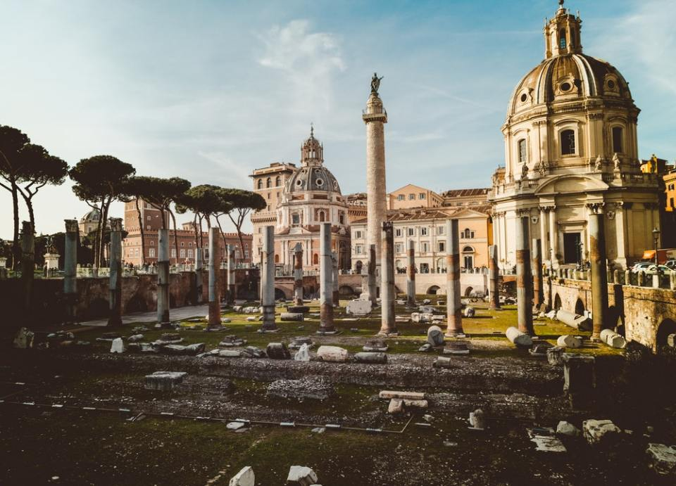 El foro romano está muy bien conservado