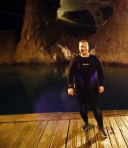 Wetsuit Diver Bonne Terre Mine