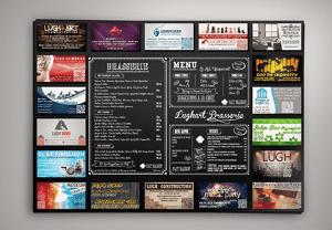 Set de table publicitaire LUGHART