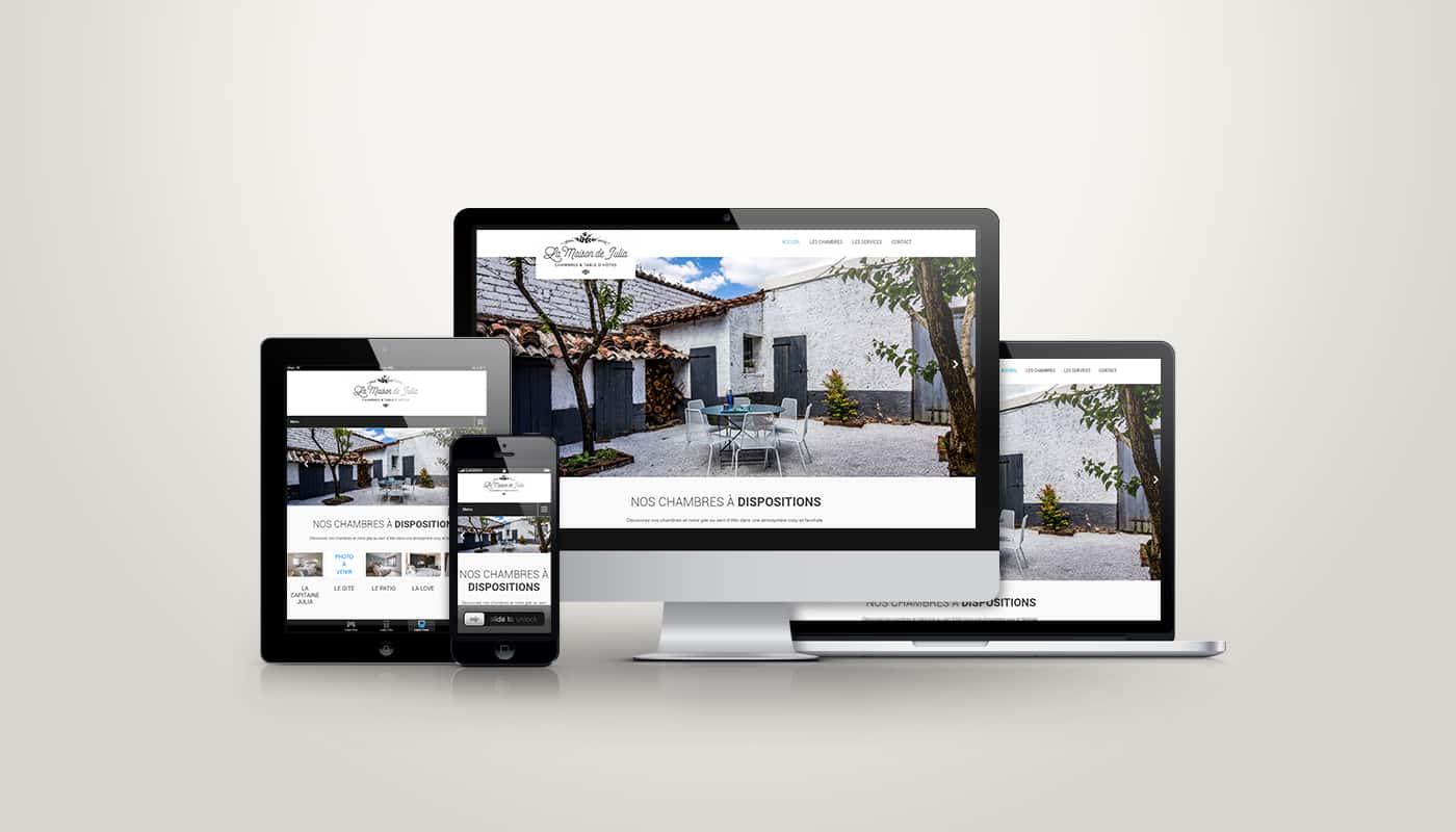 Site internet La Maison de Julia Chambres & Table d'Hôtes