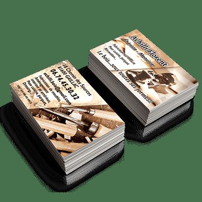 Cartes de Visites Florent Achilli Menuisier Ebéniste