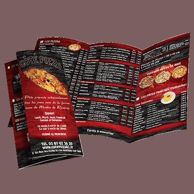 Dépliant Côté Pizza - Pizzéria Marssac sur Tarn (81)