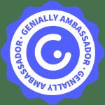 """Badge """"Genially Botschafter"""""""
