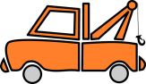 orange Towing car graphic