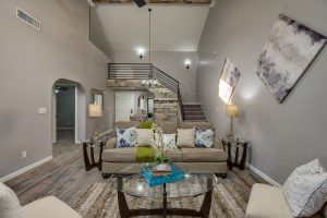 Living Room with a Loft | Lugo & Co. in Phoenix, AZ