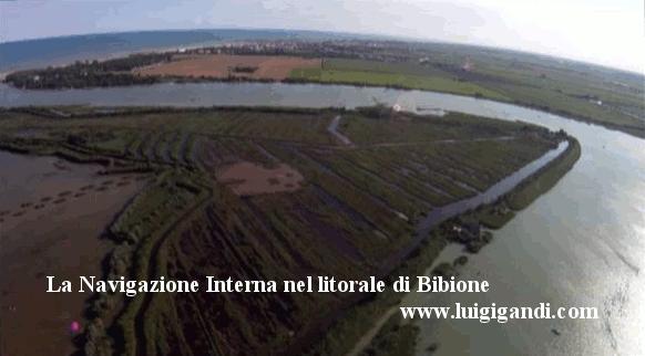 Bibione e la navigazione interna, con immagini aeree