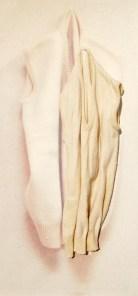 arch.n. 885 gill lana gillet resinato + riproduzione fotografica su tela applicata a tavola cm 109 x 51 – anno 2009