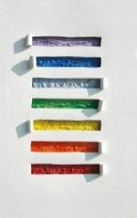 arch.n. 793 Colori 5 Affresco su tela + mosaico a perline su seconda tela, cm 62x92 – anno 2005
