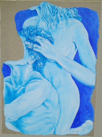 arch.n.142 Cura nudo blu, cm 50x70, anno 2001