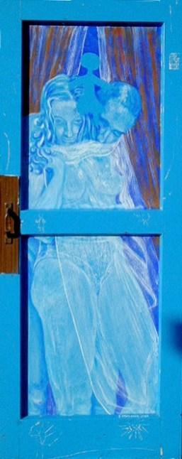 arch.n.146 Dietro la finestra acrilico su tavola – cm 60x130, anno 2001