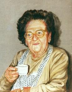 arch.n. 235 - Nonna Maria - affresco su tela, cm 52x66 - anno 2000