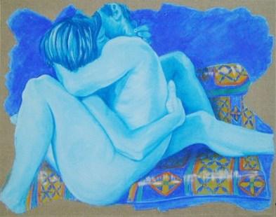 136 Passione, affresco su tela, cm 89x72, anno 2001