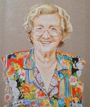 arch.n. 224 - Tina Anselmi - affresco su tela cm 78x100, anno 2000
