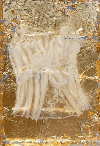 arch.n. 972 Daimon 6 incisione su plexiglass + foglia oro, cm 47,5x32,5, anno 2011