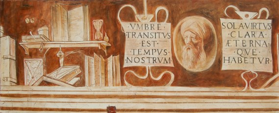 arch.n. 1.304 Fregio Casa Giorgione Affresco su tela applicata a tavola, cm 70x180 anno 2010