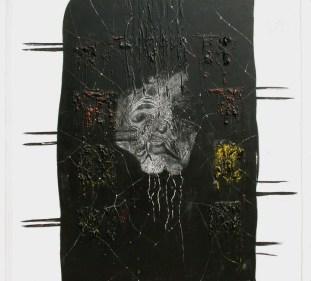arch.n. 722 Sorella morte affresco e acrilico su tela cm 110x100, anno 2004