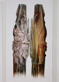 arch.n. 721 Vedere le proprie origini Rielaborazione digitale + pittura ad olio su tela, cm 120x87, anno 2004