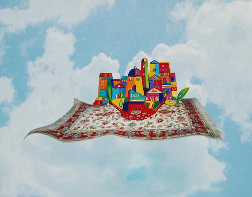 arch.n. 26 ielaborazione digitale e stampa su Kapatex + pittura ad olio cm 100x128 – anno 2012