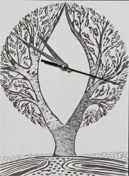 Il Tempo – i buoni frutti: Archivio n. 1803- cm 29x21,5 - 2019- incisione su alluminio + meccanismo orologio. L'opera è archiviata ed è completa di attaccaglia. € 45