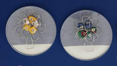 i BUONI-FRUTTI- archivio n. 1945-B-C- cm 10 - 2021. plexiglass+ stoffa resinata e filo acciaio