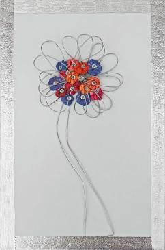 i BUONI-FRUTTI- archivio n. 1947- cm 28x18,5- 2021. incisione su metallo+ stoffa resinata e filo acciaio