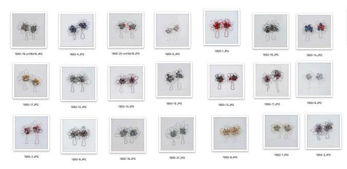 i BUONI-FRUTTI- archivio n. 1950/1-21- cm 18x18- 2021. Plexiglass bianco lucido + stoffa resinata e filo acciaio