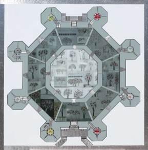 Giardino Eden in Castel Del Monte. Archivio n. 1978 (collage di 62quadri).17.257 px x 17396 pixel.