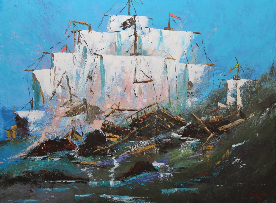 Coliding pirate ships