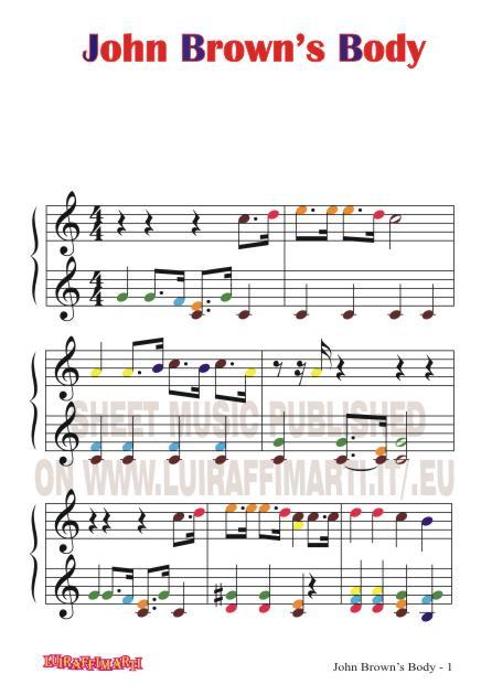 john brown's body1 sheet music