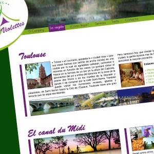 Site internet d'un camping