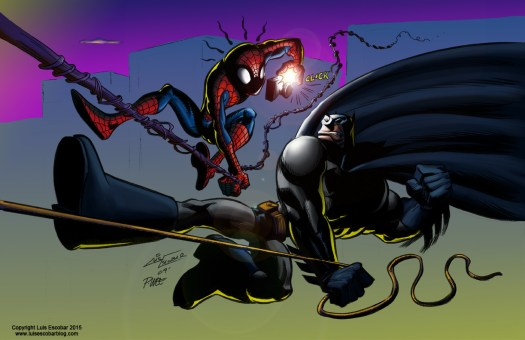 Batman vs. Spider-Man color