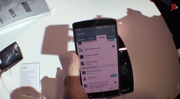 LG G Flex 2, el teléfono curvo, desde Las Vegas