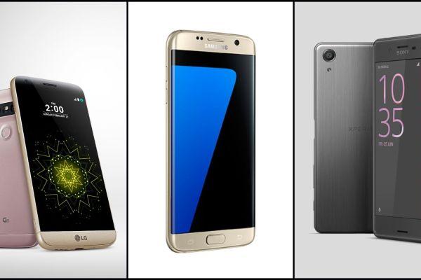 LG G5, Galaxy S7 Edge y Sony Xperia X Performance