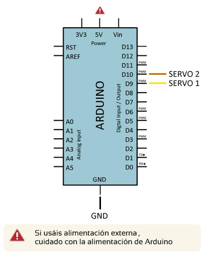 arduino torreta servo esquema electrico - Electrogeek