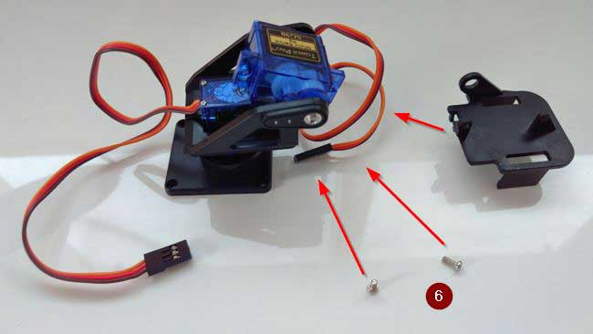 arduino torreta servo plastico montaje 06 - Electrogeek