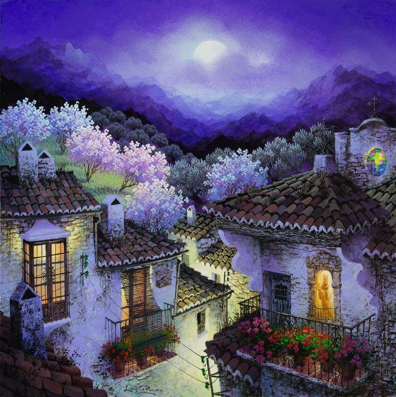 Luna entre los almendros