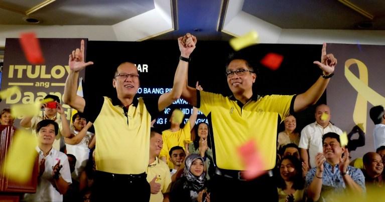 President Noynoy Aquino endorses Mar Roxas