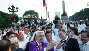 Duterte during the 121st anniversary of Jose Rizal's martyrdom