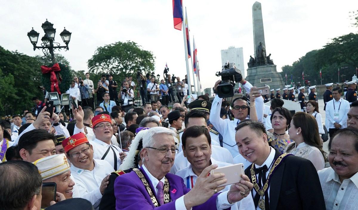 Duterte during the 121st anniversary of Jose Rizal's martyrdom