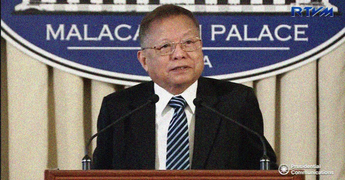 Former Chief Justice Reynato Puno