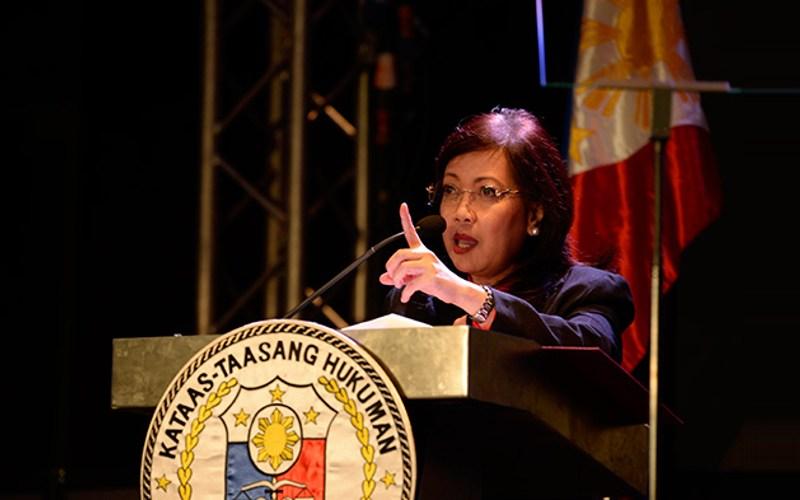 Chief Justice Maria Lourdes Sereno
