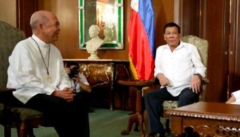 Rodrigo Duterte and Archbishop Romulo Valles