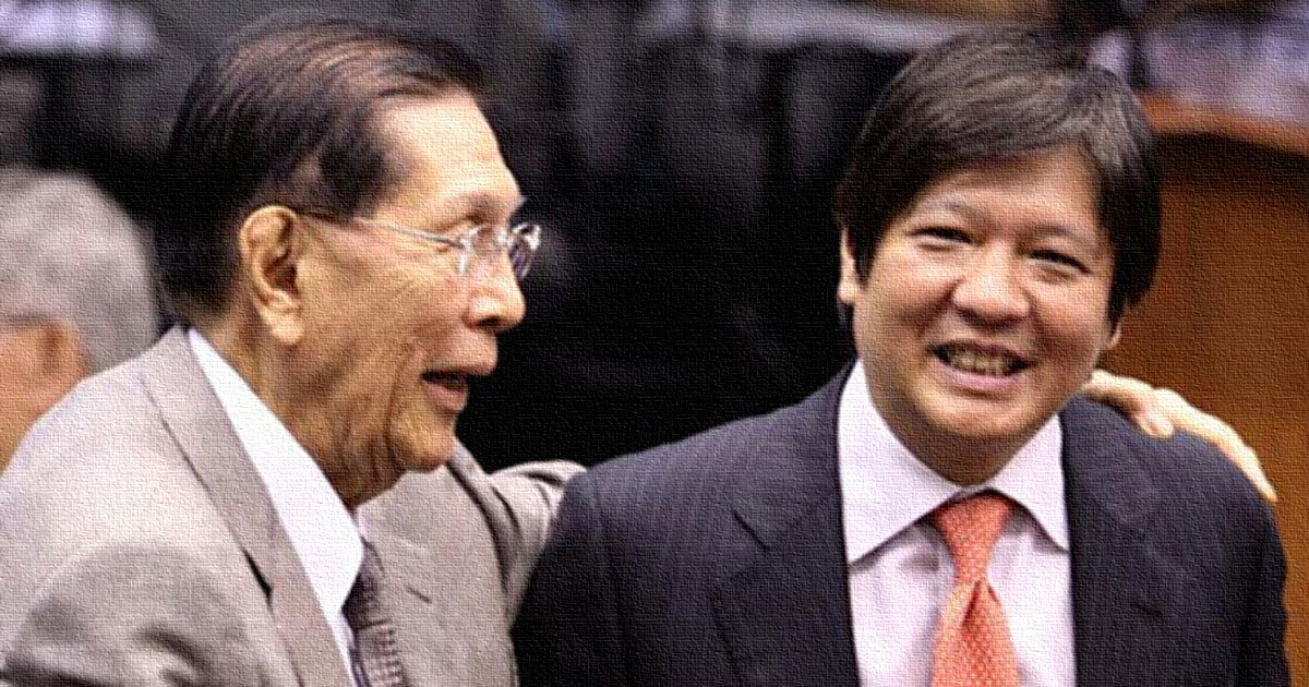 Juan Ponce Enrile and Bongbong Marcos