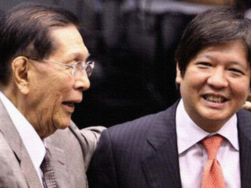 Juan Ponce Enrile and Bongbong Marcos