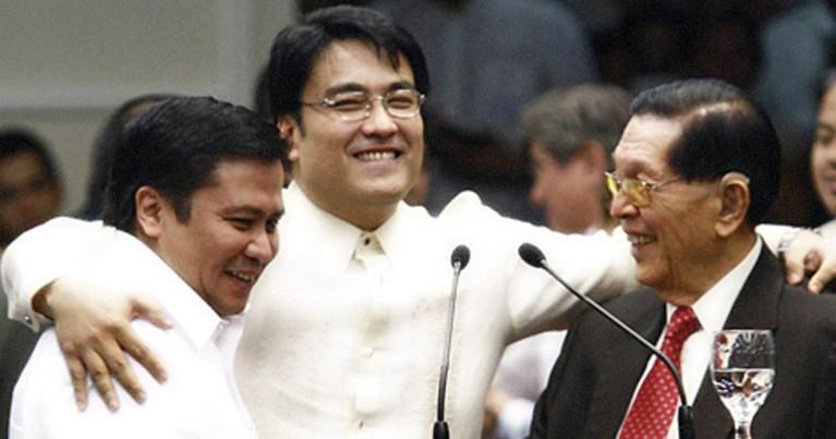 Jinggoy Estrada, Bong Revilla, and Juan Ponce Enrile