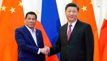 Rodrigo Duterte and Xi Jinping