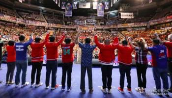 Rodrigo Duterte and 2019 PDP-Laban senatorial candidates