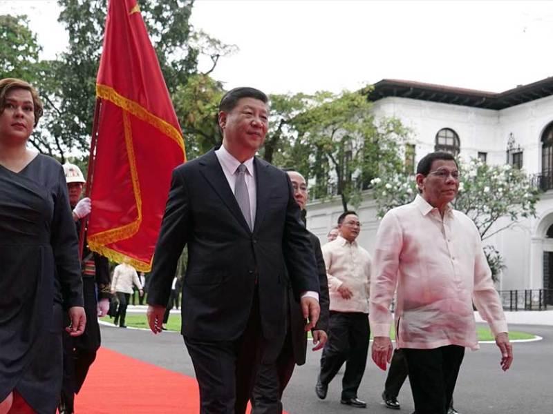 Sara Duterte, Xi Jinping and Rodrigo Duterte