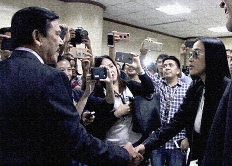 Tito Sotto and Mocha Uson